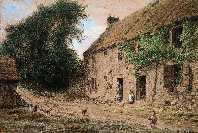 Millets Birthplace at Gruchy 1863   Jean Francois Millet   oil painting