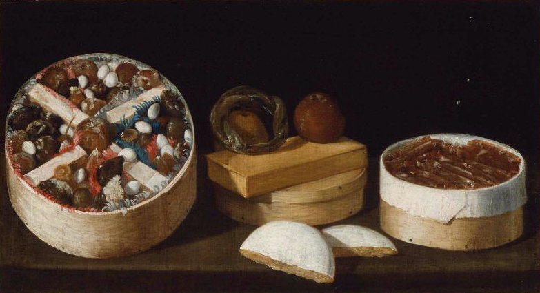 Still Life with Sweetmeats | Unidentified artist | oil painting