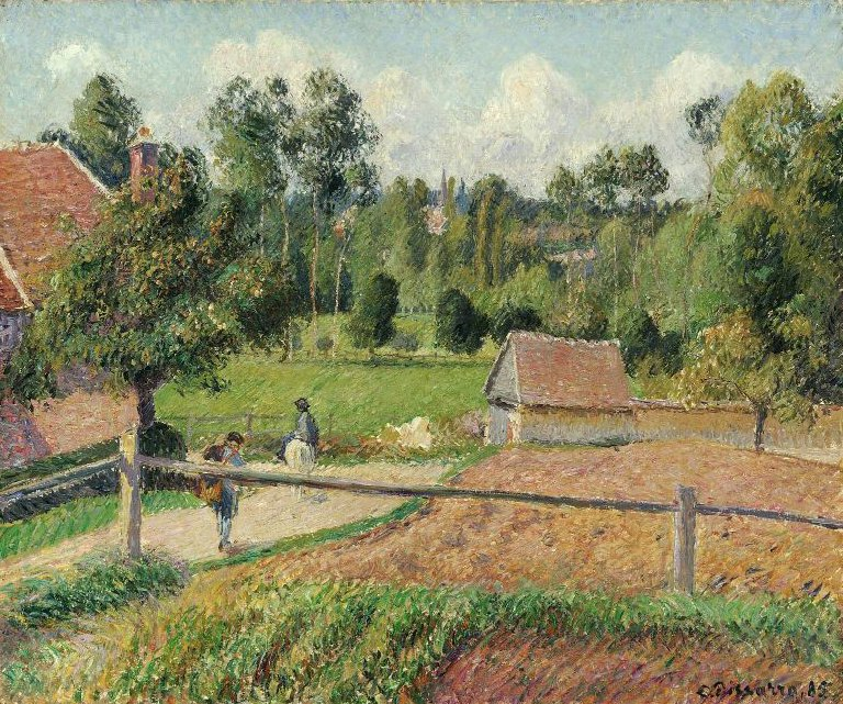 View from the Artists Window Eragny 1885 | Camille Pissarro | oil painting