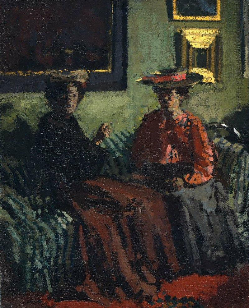 Les Petites Belges Young Belgian Women | Walter Richard Sickert | oil painting