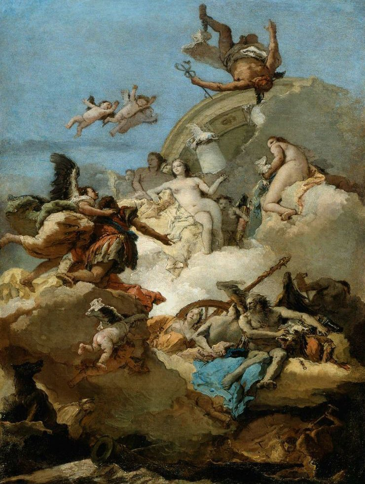 Apotheosis of Aeneas 1762 | Giovanni Battista Tiepolo | oil painting