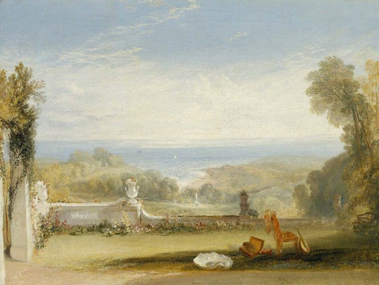 View from the Terrace of a Villa at Niton Isle of Wight from Sketches by a Lady 1826 | Joseph Mallord William Turner | oil painting