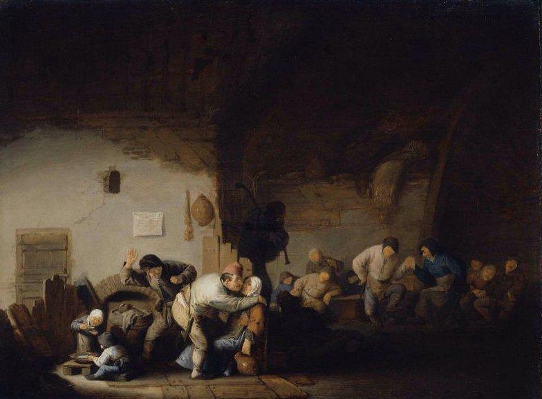 Peasants Merrymaking 1630s | Adriaen van Ostade | oil painting