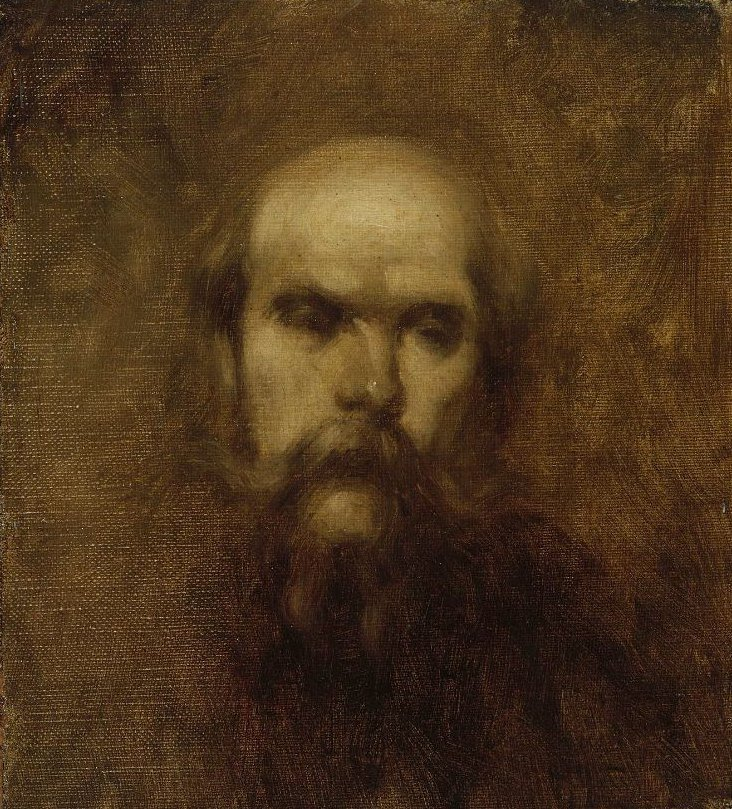 Paul Verlaine 1891 | Eugene Carriere | oil painting