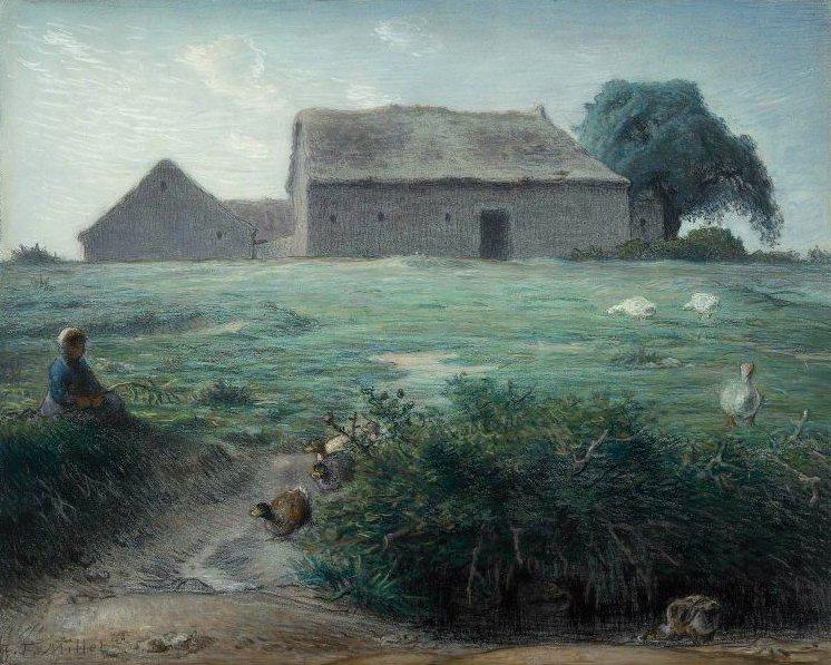 Little Goose Girl 1868   Jean Francois Millet   oil painting