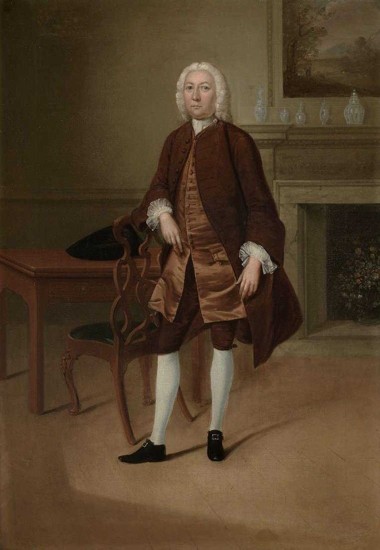Portrait of a Man Standing Beside a Table 1740 | Arthur Devis | oil painting