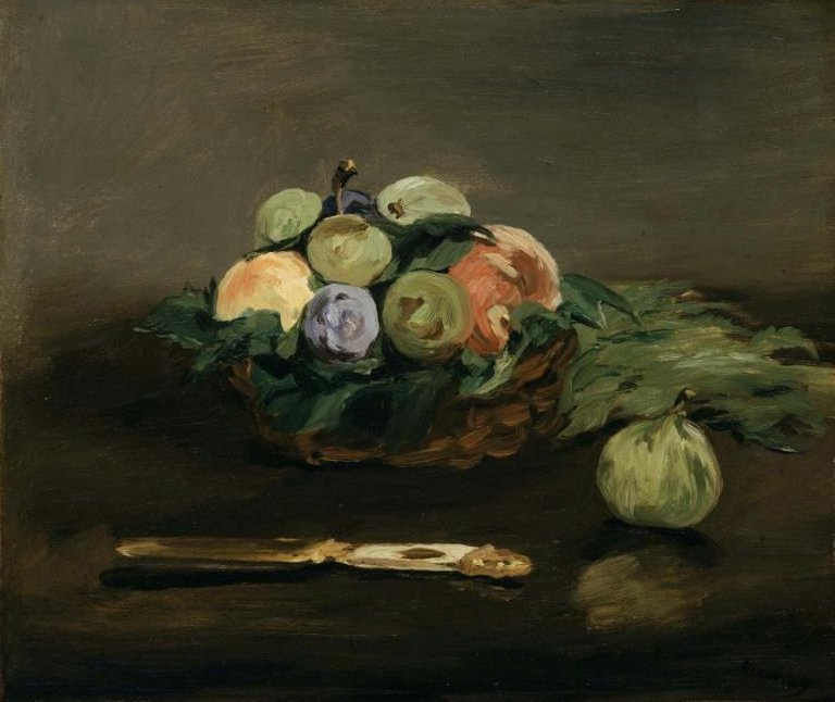 Basket of Fruit 1864 | Edouard Manet | oil painting