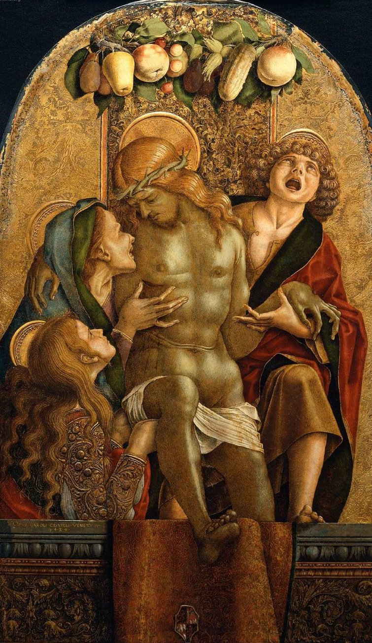 Lamentation over the Dead Christ 1485 | Carlo Crivelli | oil painting