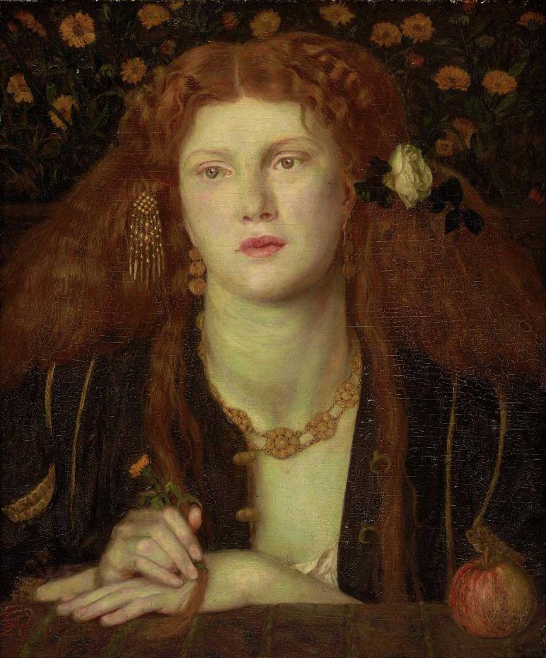 Bocca Baciata Lips That Have Been Kissed 1859 | Dante Gabriel Rossetti | oil painting