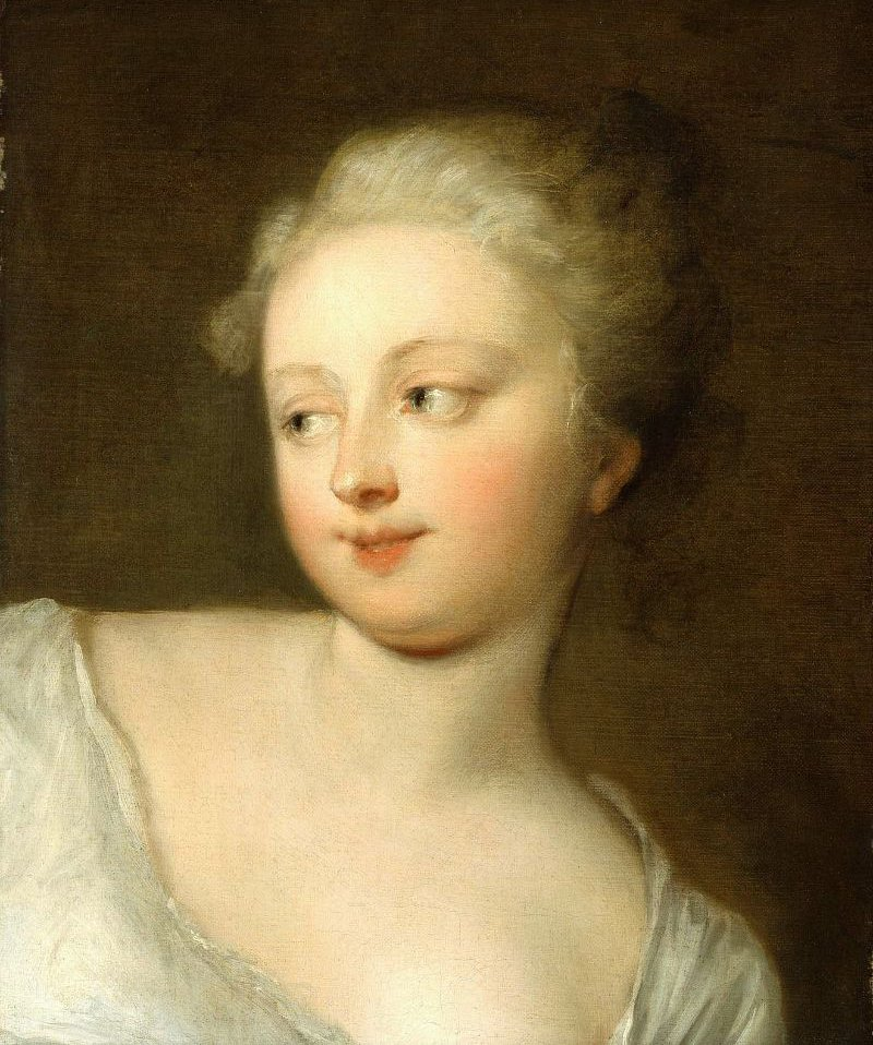 Head of a Young Woman 18th century | Unidentified artist | oil painting