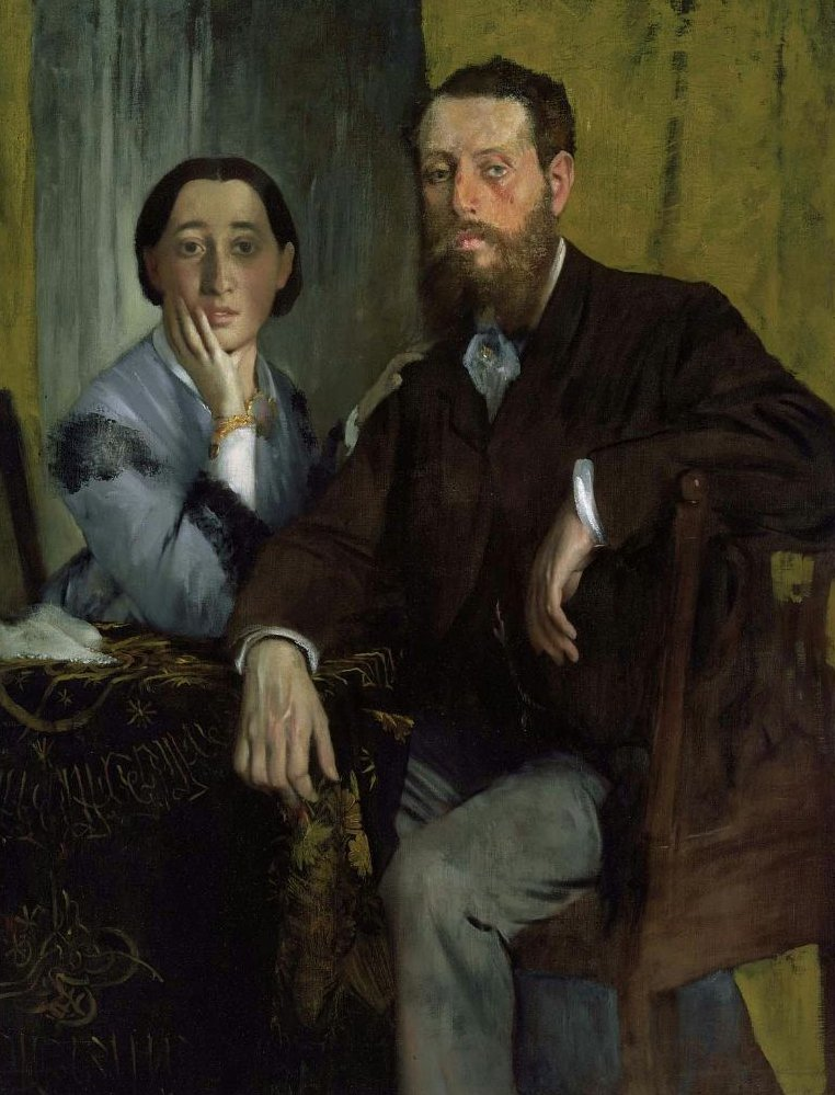 Edmondo and Therese Morbilli 1865 | Edgar Degas | oil painting