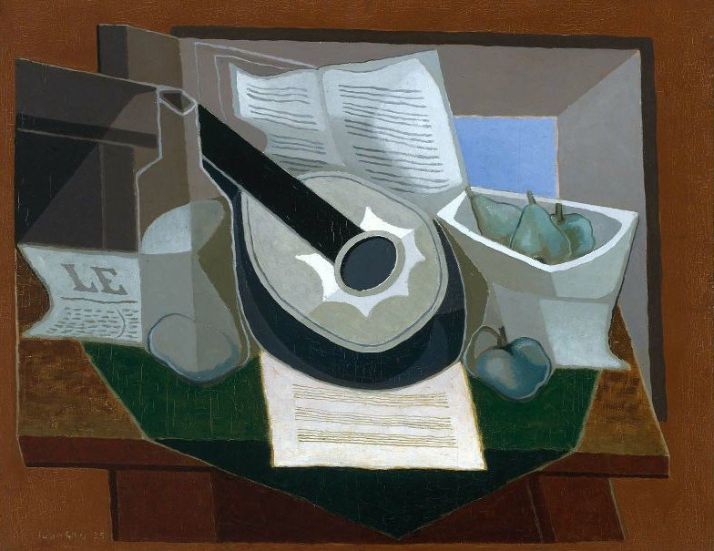 Still Life with a Guitar 1925 | Juan Gris | oil painting