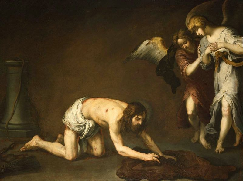 Christ after the Flagellation 1665 | Bartolome Esteban Murillo | oil painting
