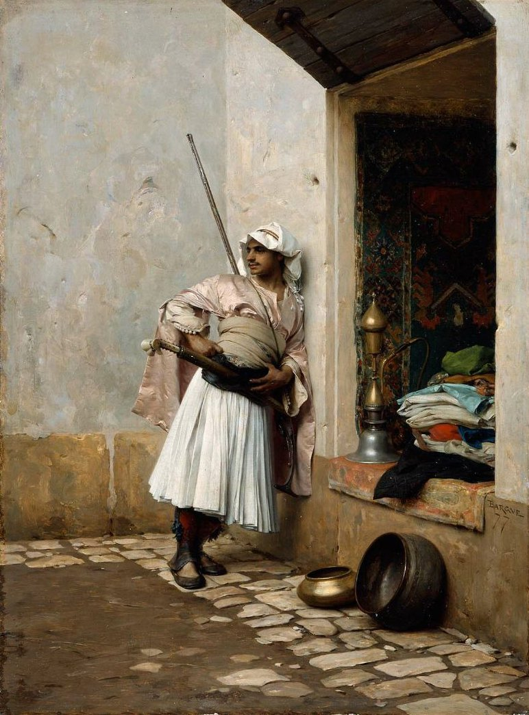 Turkish Sentinel 1877 | Charles Bargue | oil painting