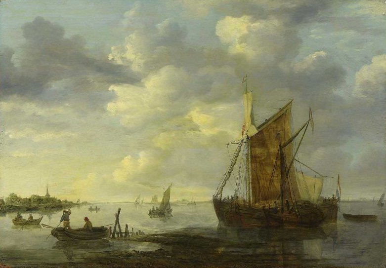 Evening on the Maas | Jan Josephsz van Goyen | oil painting