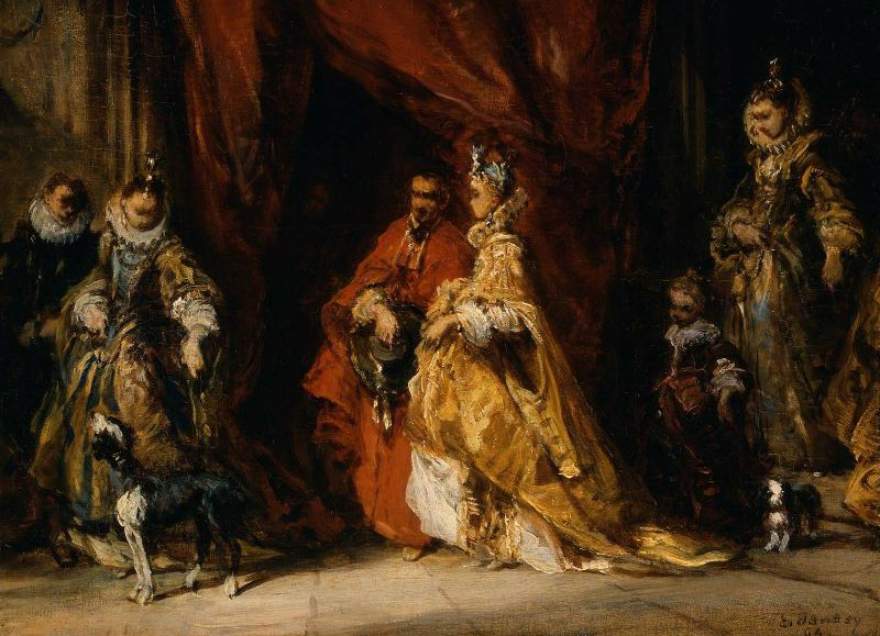 Courtiers in an Interior 1864 | Eugene Isabey | oil painting