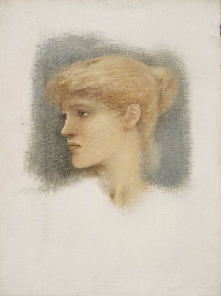 Study of a Young Womans Head 1895 | Sir Edward Coley Burne Jones | oil painting