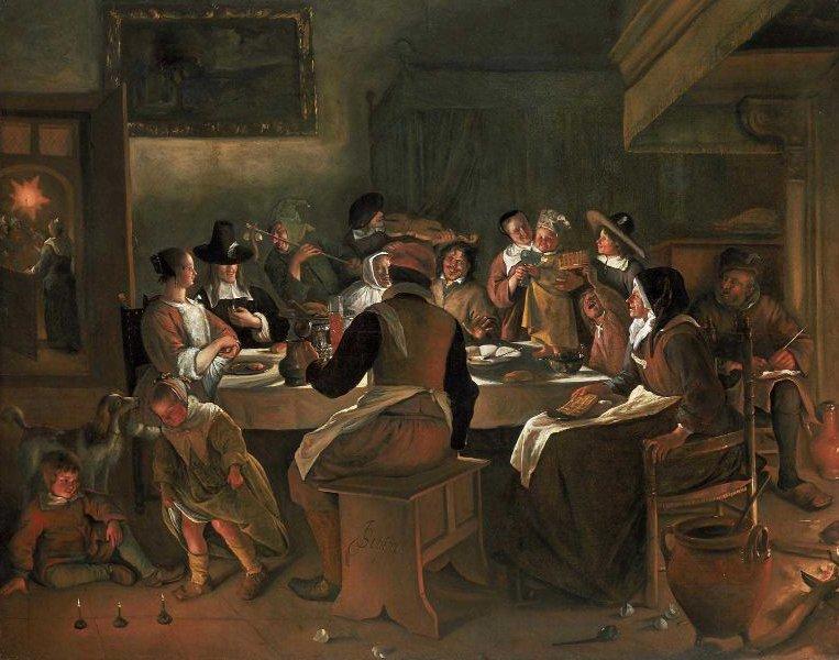 Twelfth Night Feast 1662 | Jan Havicksz Steen | oil painting