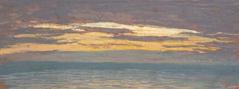 View of the Sea at Sunset 1862 | Claude Monet | oil painting