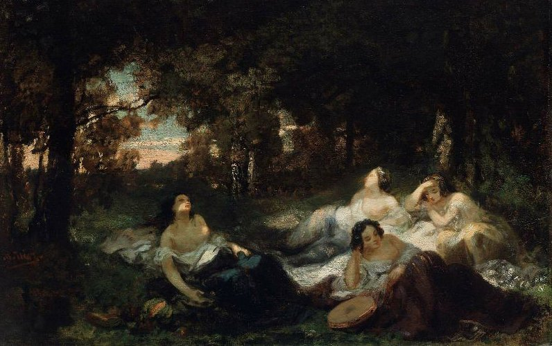 Young Women Resting in a Forest Clearing | Narcisse Virgile Diaz de la Pena | oil painting