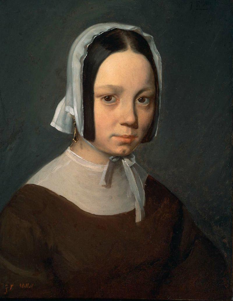 Madame J F Millet Pauline Virginie Ono 1841   Jean Francois Millet   oil painting