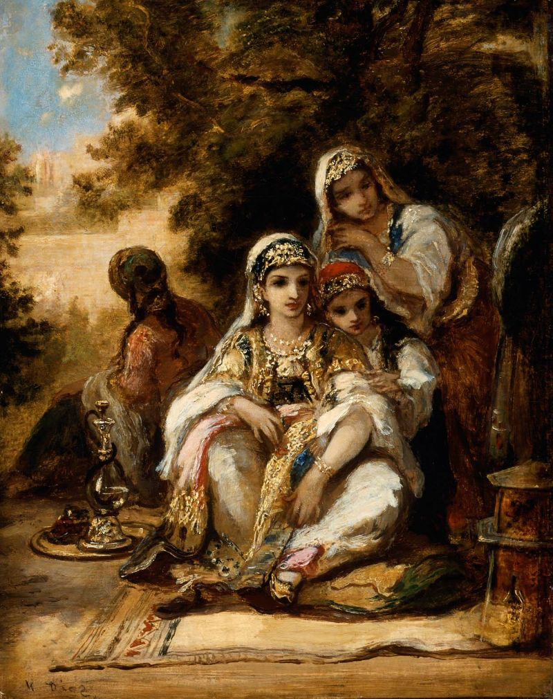 Young Women in Turkish Costume 1862 | Narcisse Virgile Diaz de la Pena | oil painting