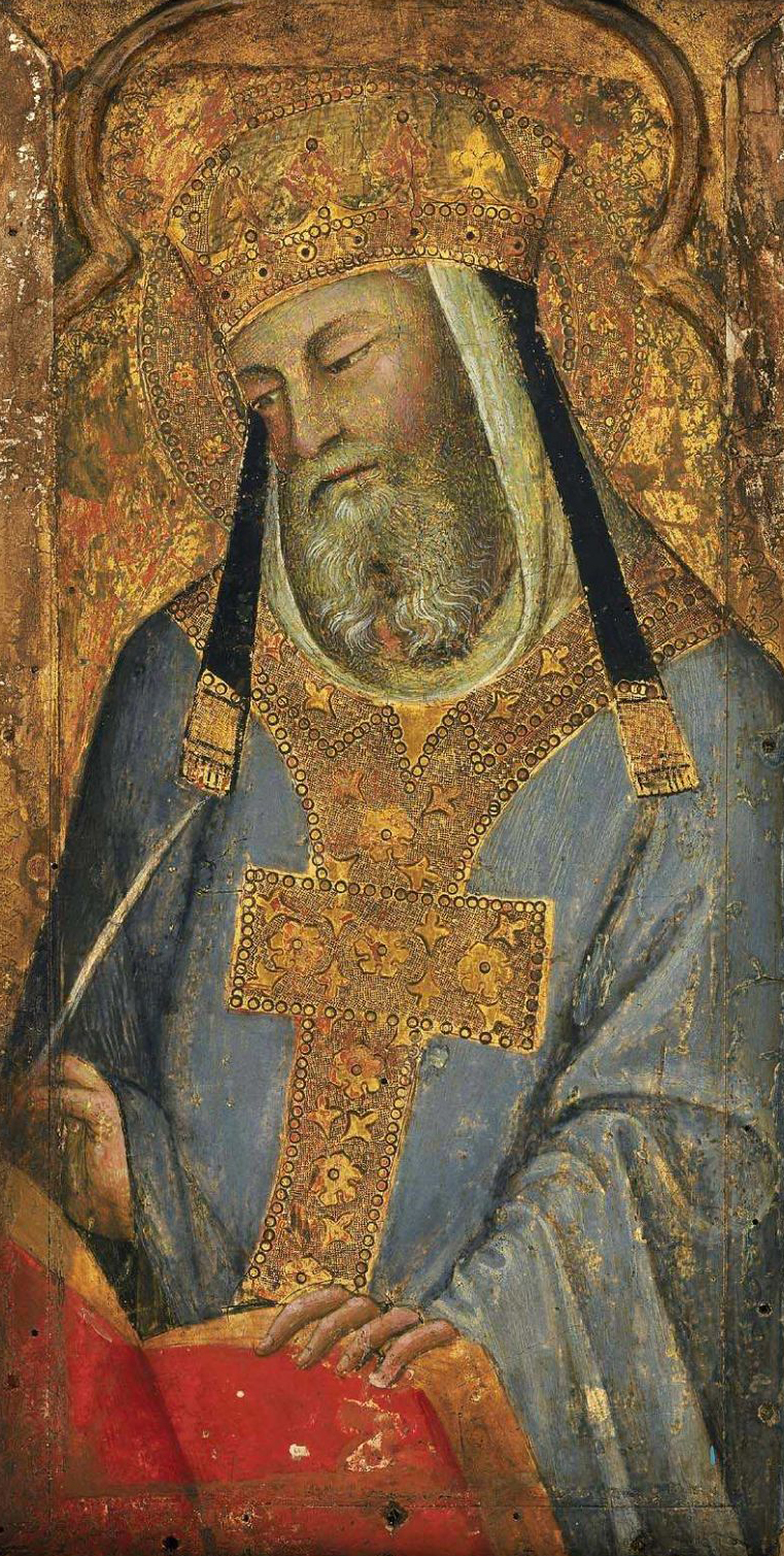 A Papal Saint Saint Gregory the Great 1380s | Bartolo di Fredi | oil painting