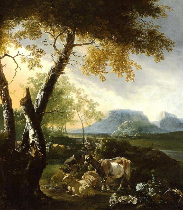 Landscape with Goats 1660 | Adam Pynacker | oil painting