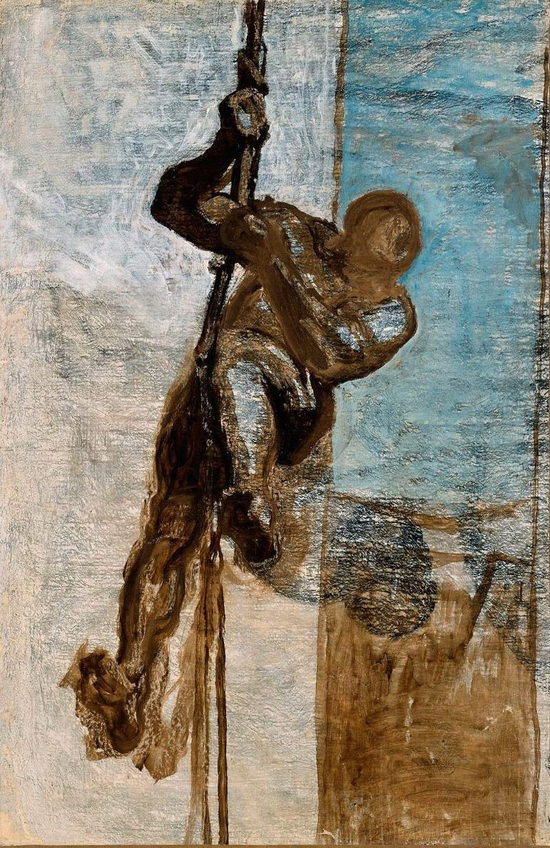 Man on a Rope 1858 | Honore Daumier | oil painting