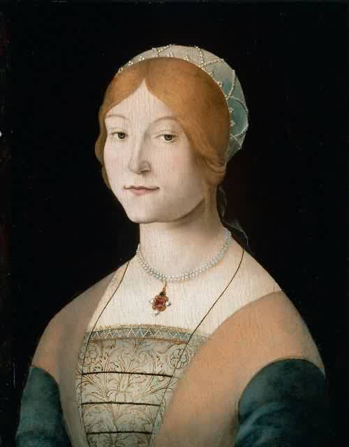 Portrait of a Woman with a Pearl Necklace Lorenzo Costa