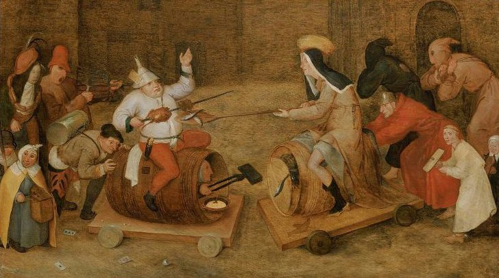 Combat between Carnival and Lent | Pieter Bruegel the Elder | oil painting