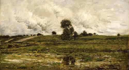 Rising Ground Near Villeneuve St Georges 1875 Charles Francois Daubigny