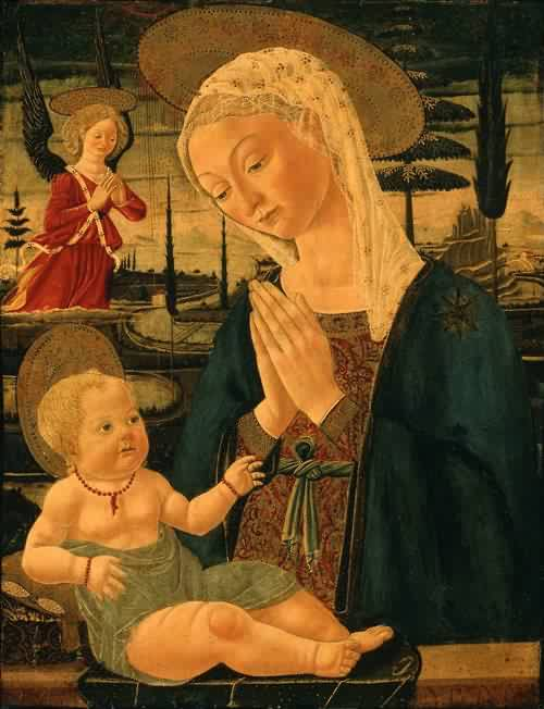 Virgin and Child with an Angel 1470s Bernardo di Stefano Rosselli