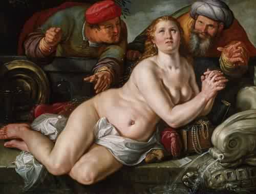 Susanna and the Elders 1615 Hendrick Goltzius