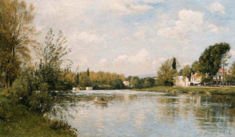 The Marne at La Varenne 1878 | Stanislas Lepine | oil painting