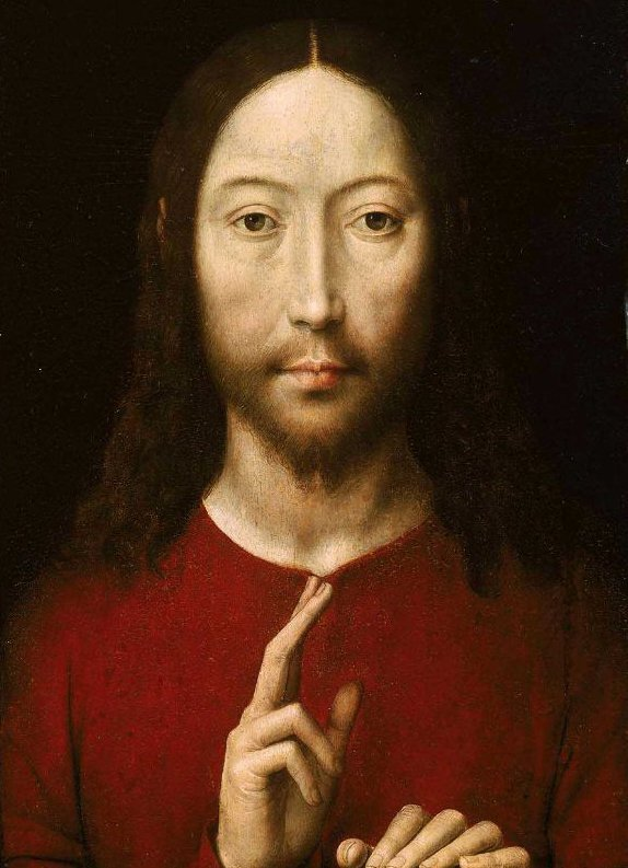Christ Blessing 1481 | Hans Memling | oil painting