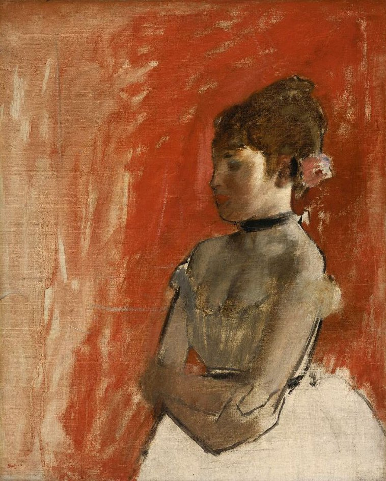 Ballet Dancer with Arms Crossed 1872 | Edgar Degas | oil painting