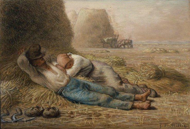 Noonday Rest 1866   Jean Francois Millet   oil painting