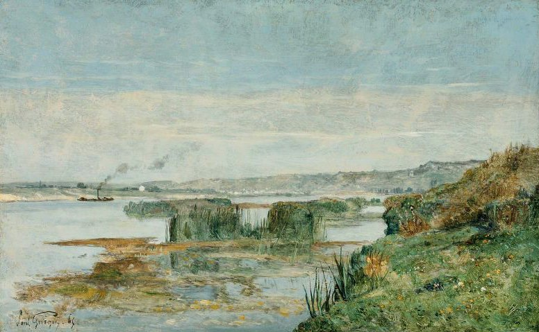 View of Triel 1865 | Paul Camille Guigou | oil painting
