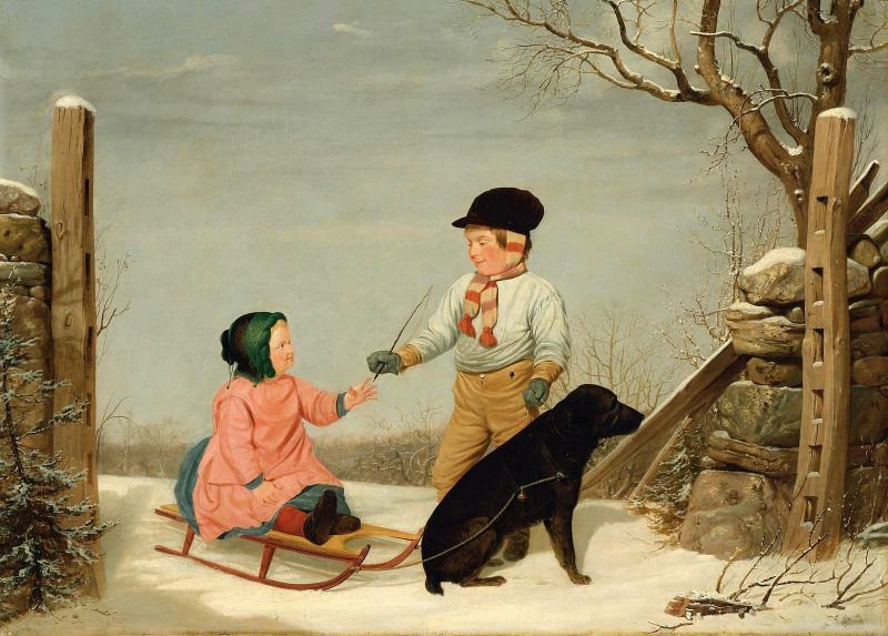 The Sleigh Ride 1845 | James Goodwyn Clonney | oil painting