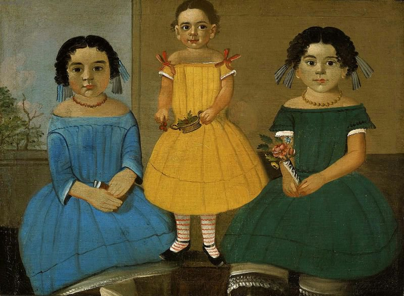 Three Sisters of the Copeland Family 1854 | William Matthew Prior | oil painting