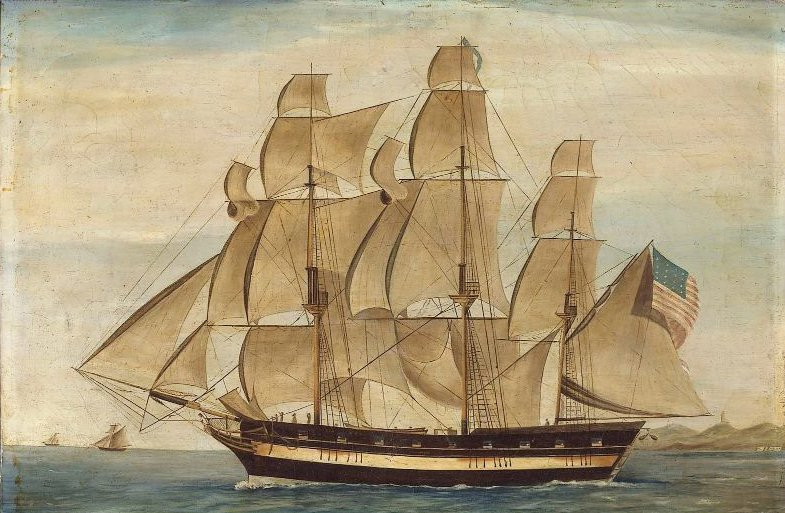 Early American Privateer Avon 1815 | Unidentified artist | oil painting