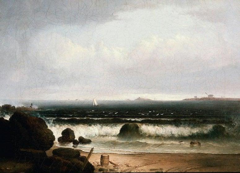 Beach Scene with Rocks II 1835 | Thomas Doughty | oil painting