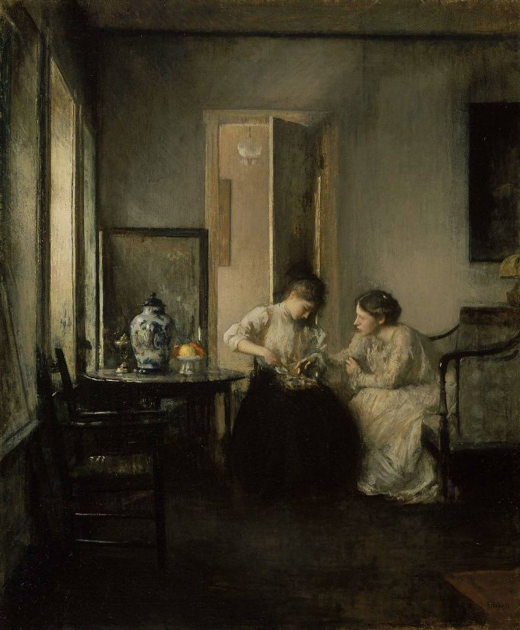 New England Interior 1906 | Edmund Charles Tarbell | oil painting