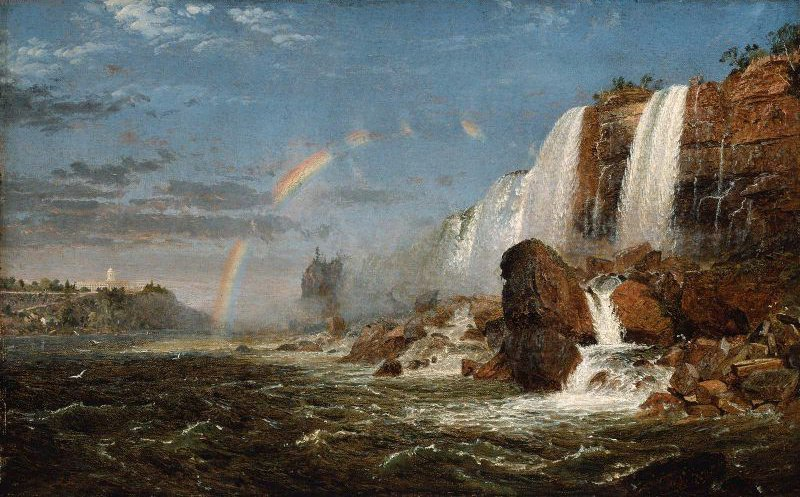 Niagara Falls from the Foot of Goat Island 1851 or after | Jasper Francis Cropsey | oil painting