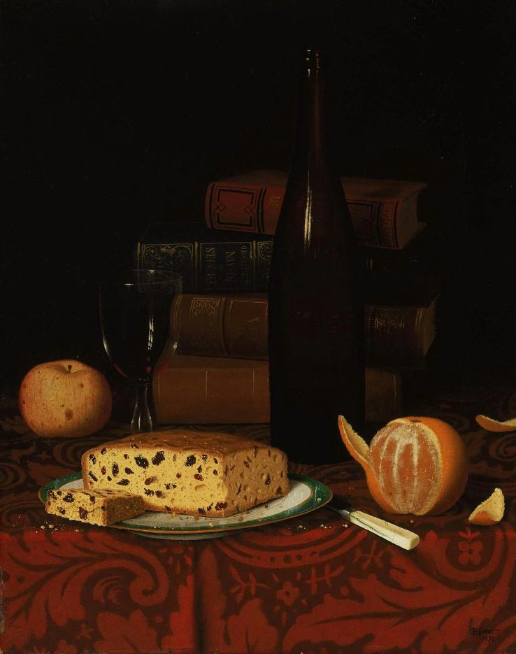 A Lunch 1876 | William Michael Harnett | oil painting