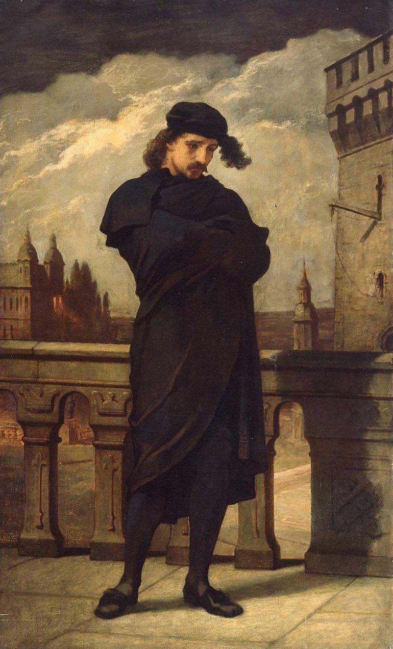 Hamlet 1864 | William Morris Hunt | oil painting