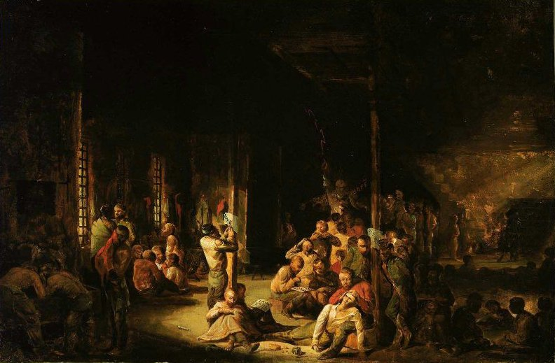 Libby Prison 1863 | David Gilmour Blythe | oil painting