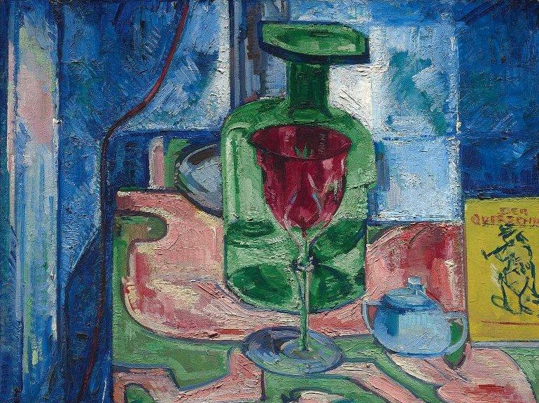 Green Bottle 1921 | Hans Hofmann | oil painting