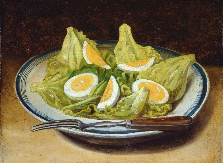 Egg Salad 1850 | Unidentified artist | oil painting